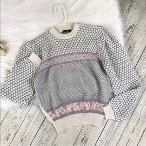 Vintage Pastel Crewneck Sweater Fairy Kei Kawaii